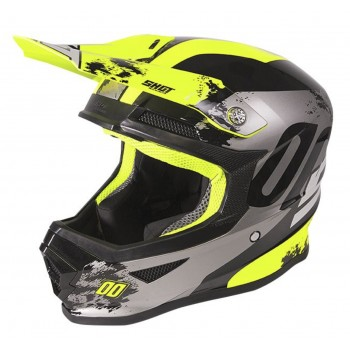 SHOT FURIOUS SHADOW HELMET NEON YELLOW GLOSSY KID
