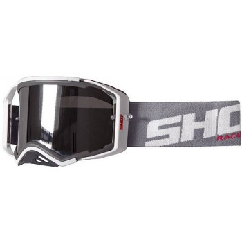 SHOT GOGGLES LITE GREY RED GLOSSY