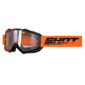 SHOT ASSAULT ELITE GOGGLES ORANGE BLACK GLOSSY