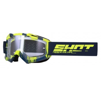 SHOT ASSAULT OVER GOGGLES NAVY BLUE YELLOW GLOSSY