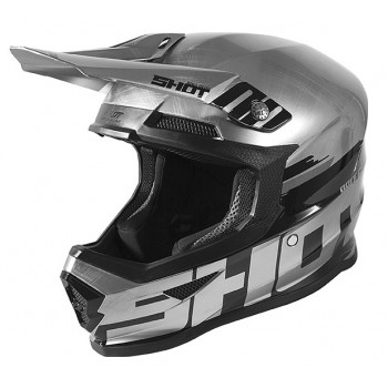 SHOT FURIOUS HELMET BRUSH CHROME GLOSSY