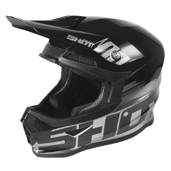 SHOT FURIOUS HELMET BRUSH METALLIC SILVER BLACK GLOSSY