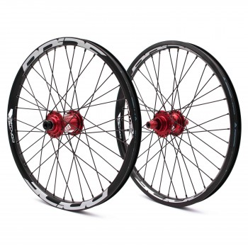 PRIDE CONTROL PRO 36H WHEELSET RED