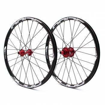 PRIDE CONTROL EXP DISC 28H WHEELSET RED
