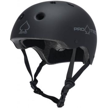 PROTEC CLASSIC RUBBER HELMET BLACK S.XS