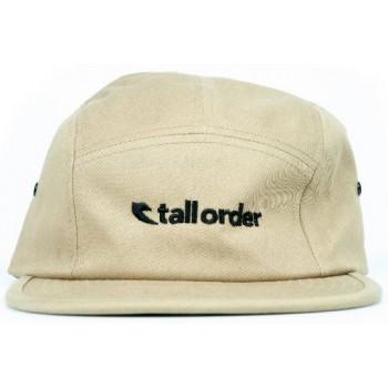 TALL ORDER LOGO CAMPER CAP TAN