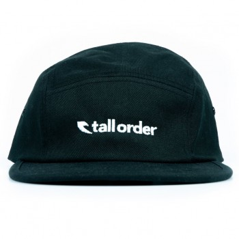 TALL ORDER LOGO CAMPER CAP BLACK