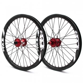 PRIDE GRAVITY PRO AERO UD GLOSS DISC WHEELSET - RED HUBS