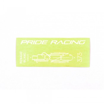 "PRIDE RACING STICKER FULL PACK 373 - 8""/ 8.5"" - WHITE"