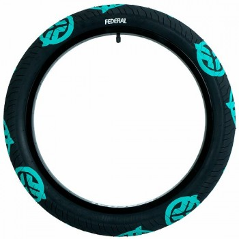 FEDERAL COMMAND LP TIRE BLACK WITH TEAL LOGO