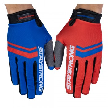STAY STRONG GLOVES OPPOSITE RED/BLUE