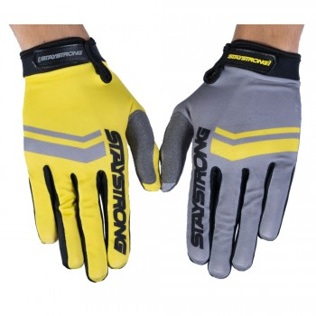 STAY STRONG GLOVES OPPOSITE GREY/YELLOW