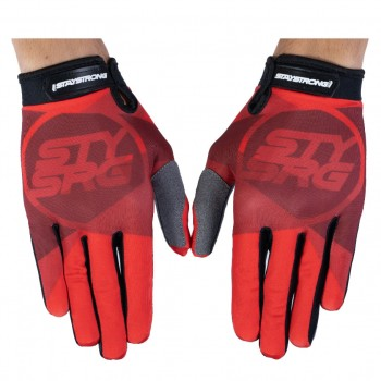 STAY STRONG GLOVES TRICOLOUR RED