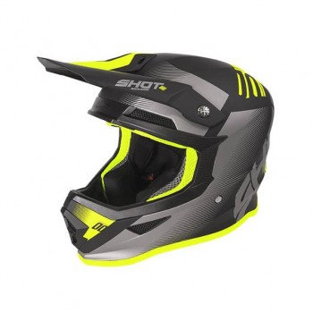 SHOT FURIOUS TRUST HELMET BLACK NEON YELLOW MATT