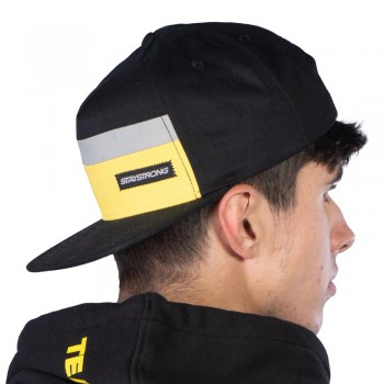 STAY STRONG BLOCK SNAPBACK CAP BLACK/YELLOW