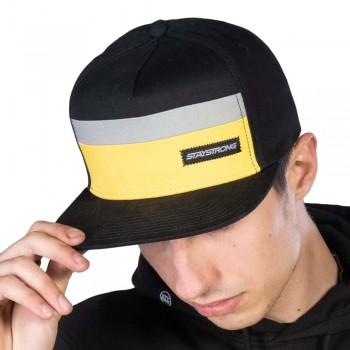 STAY STRONG BLOCK SNAPBACK CAP BLACK/YELLOW