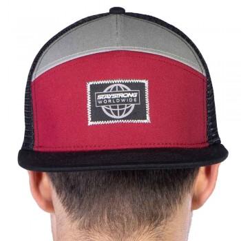 STAY STRONG WORLDWIDE SNAPBACK CAP BLACK/MAROON