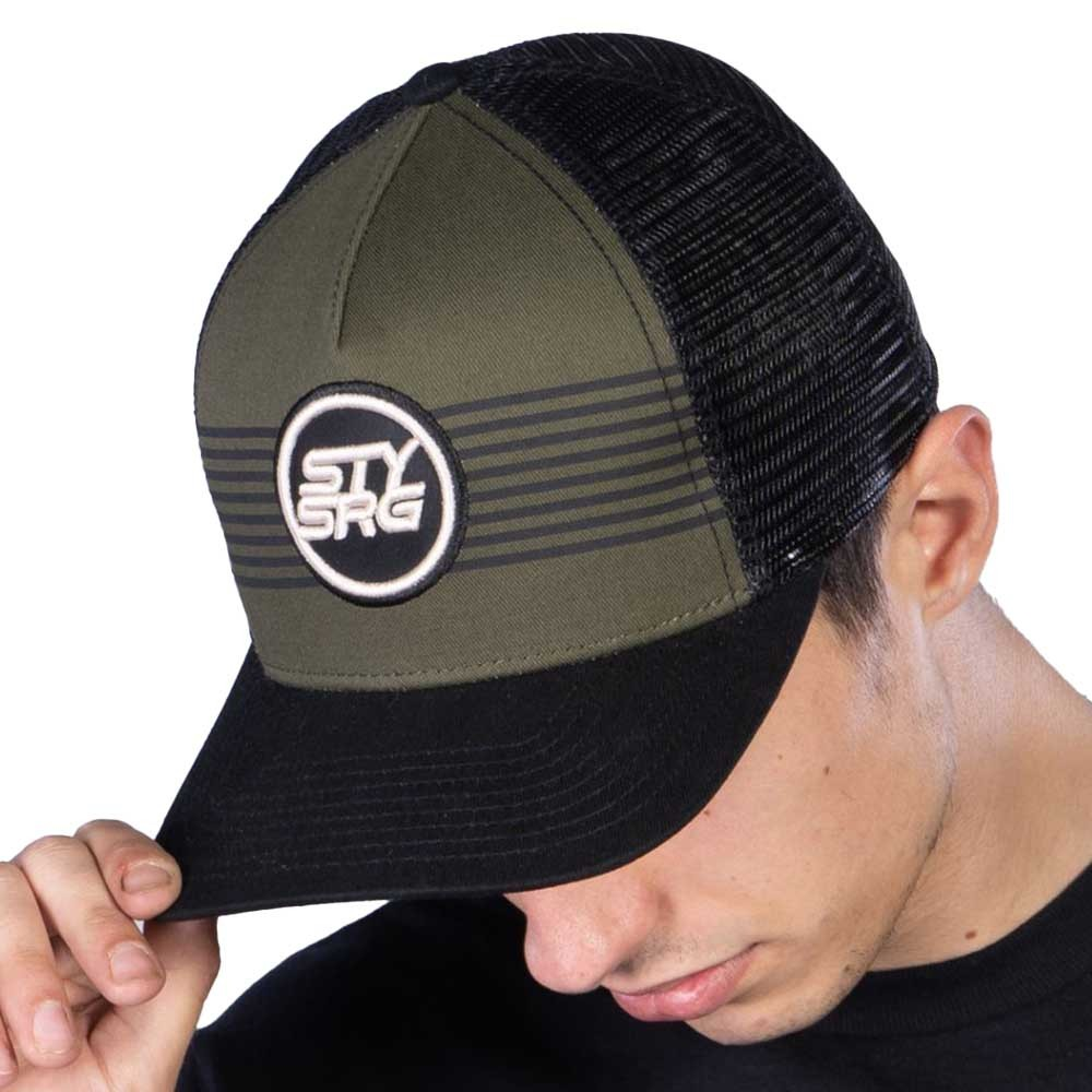 STAY STRONG ICON STRIPE SNAPBACK CAP BLACK/GREEN