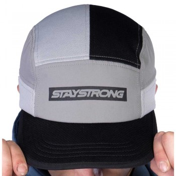 STAY STRONG FASTER 6 PANEL CAP BLACK