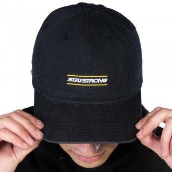 STAY STRONG INSIDE DAD CAP BLACK