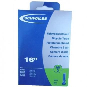 SCHWALBE TUBE - 16'' - SCHRADER - BOX