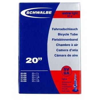 CHAMBRE A AIR SCHWALBE - 20'' x 1.50 - EXTRALIGHT - PRESTA - BOITE