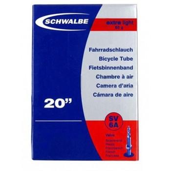 CHAMBRE A AIR SCHWALBE - 20'' x 1.60/2.50 - EXTRALIGHT - PRESTA - BOITE