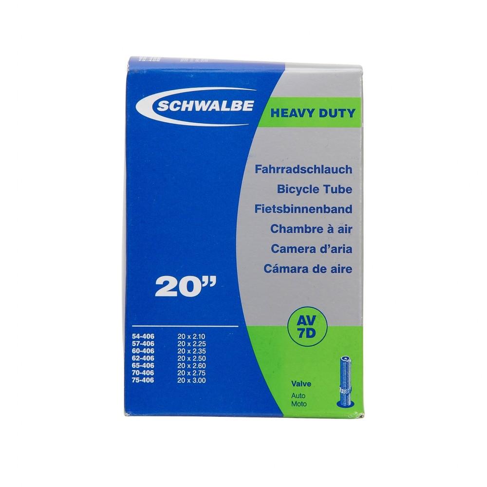 SCHWALBE TUBE - 20'' x 2.10/3.00 - DH - SCHRADER - BOX