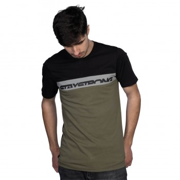 STAYSTRONG T-SHIRT CUT OFF BLACK/GREEN