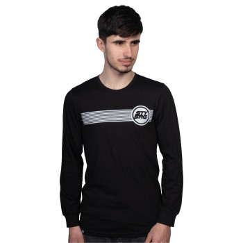 T-SHIRT L/S STAYSTRONG ICON STRIPE BLACK