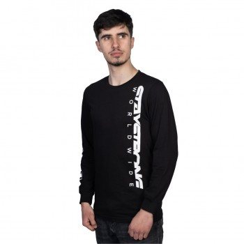 T-SHIRT L/S STAYSTRONG ICON WORLDWIDE BLACK