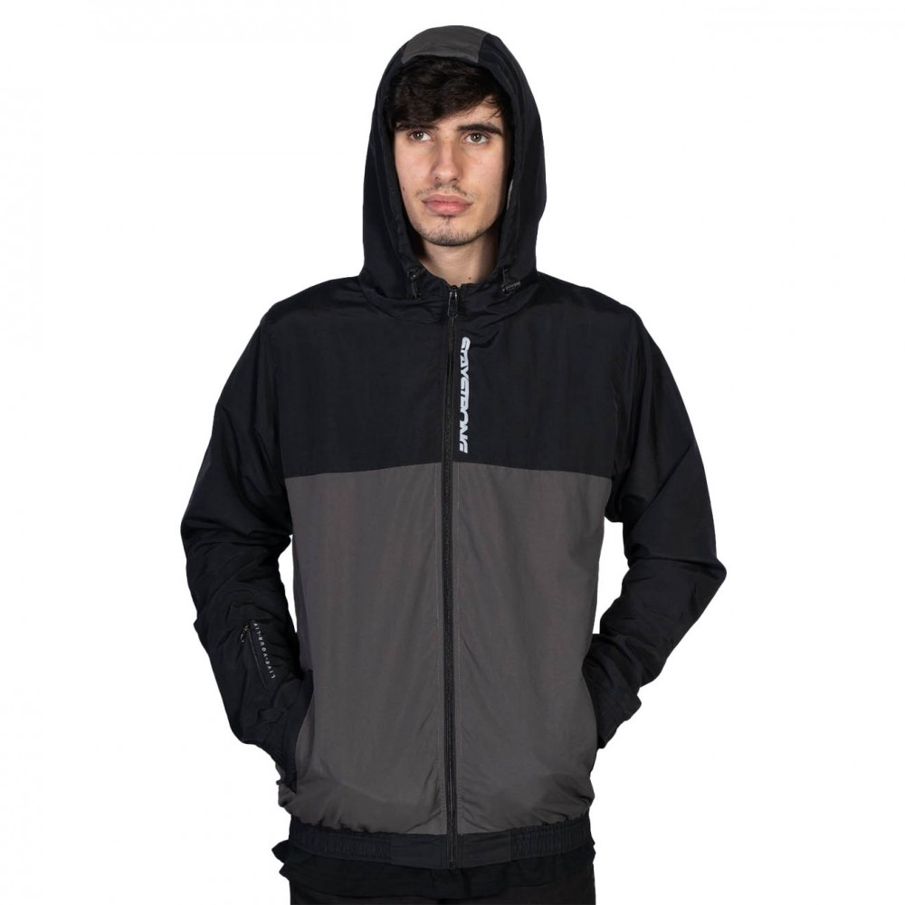 STAYSTRONG JACKET CUT OFF VERTICAL BLACK