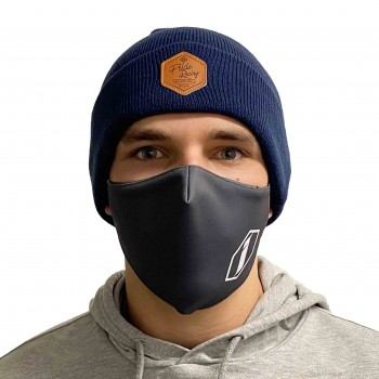 PRIDE BEANIE - RIDE WITH STYLE LEATHER - DARK BLUE