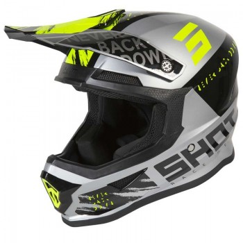 SHOT FURIOUS DRAW HELMET GREY NEON YELLOW GLOSSY