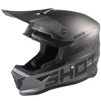 SHOT FURIOUS RAW 2.0 HELMET BLACK GREY GUN METAL MATT