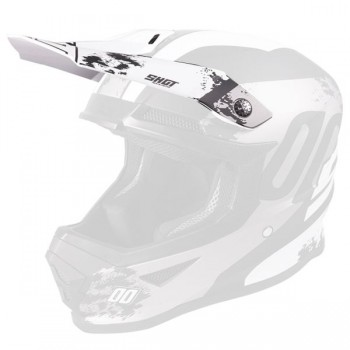 SHOT FURIOUS SHADOW VISOR BLACK WHITE GLOSSY