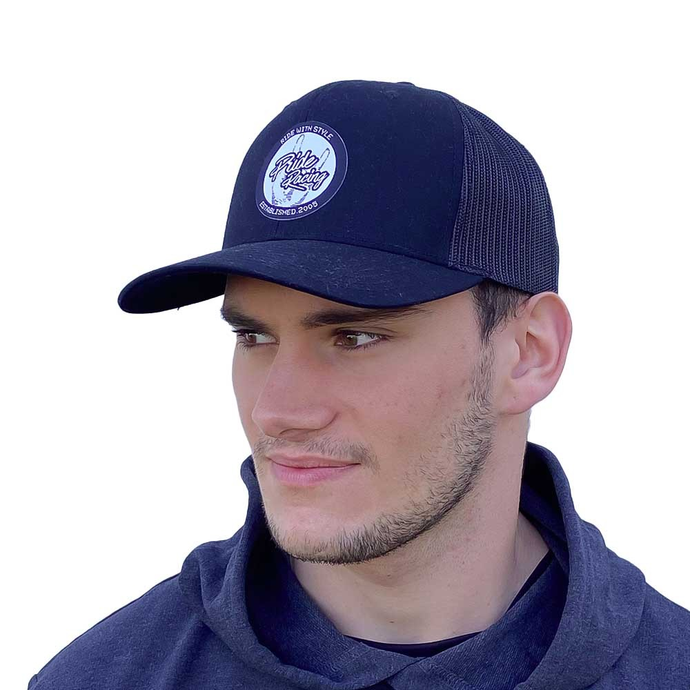 PRIDE CAP TRUCKER PATCH MESH BLACK