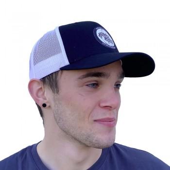 PRIDE CAP TRUCKER PATCH MESH BLACK/WHITE