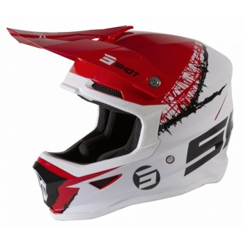 CASQUE ENFANT SHOT FURIOUS STORM RED WHITE GLOSSY