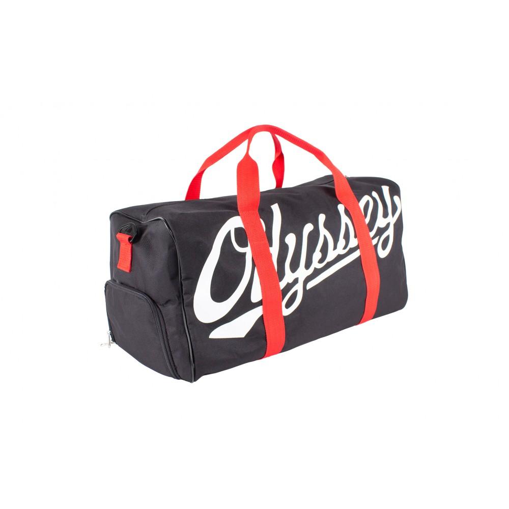 ODYSSEY SLUGGER DUFFLE BLACK w/RED STRAPS