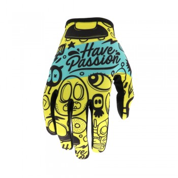EVOLVE PASSION ADULT GLOVES TEAL/YELLOW