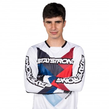 MAILLOT STAYSTRONG CHEVRON WHITE