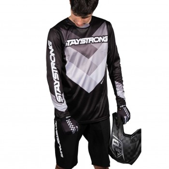 MAILLOT STAYSTRONG CHEVRON BLACK