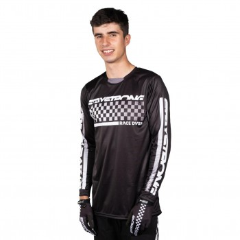 STAYSTRONG CHECKER JERSEY BLACK