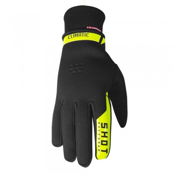 SHOT CLIMATIC 2.0 GLOVES BLACK NEON YELLOW