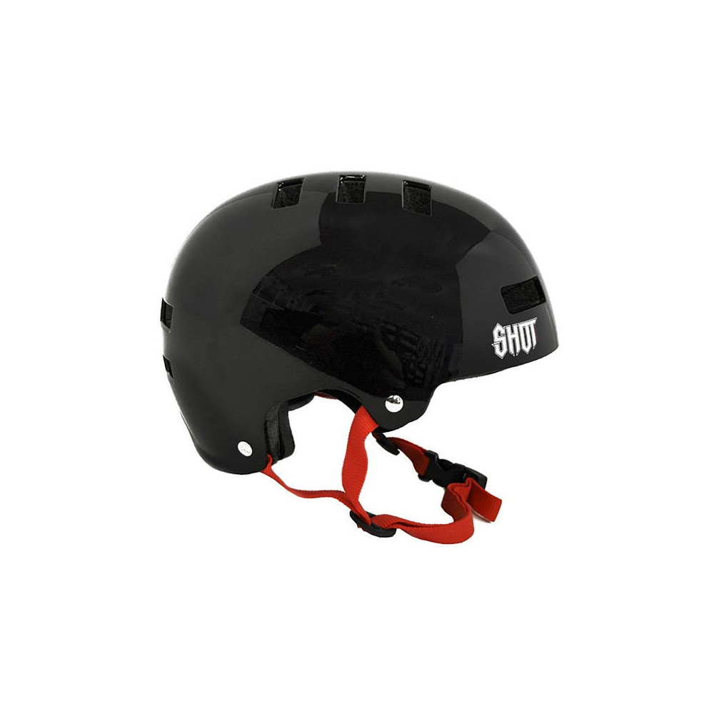 CASQUE SHOT SOLID BLACK / RED