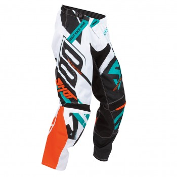 PANTALON SHOT CONTACT RACEWAY ORANGE/MINT
