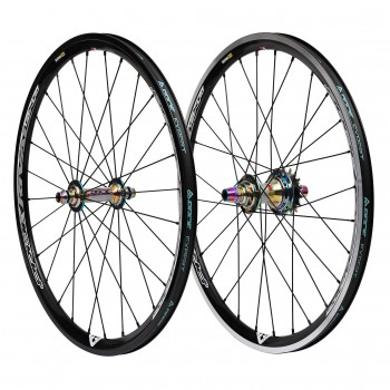PAIRE DE ROUES PRIDE RACING RIVAL PRO OIL SLICK
