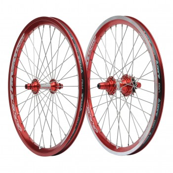 PAIRE DE ROUES PRIDE RACING RIVAL PRO RED