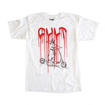 TSHIRT CULT SCOOTER RAT WHITE